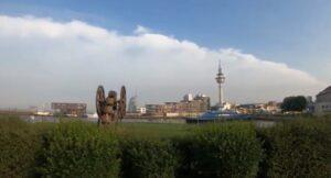 Blick zurück auf Bremerhaven