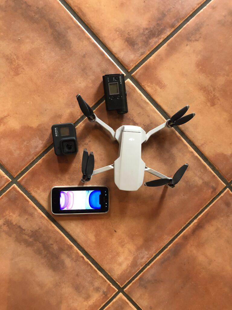 Ob Drohne, Actioncam oder Smartphone: Es gibt verschiedene Möglichkeiten der Aufnahme